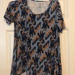Lularoe perfect tee- Giraffe print